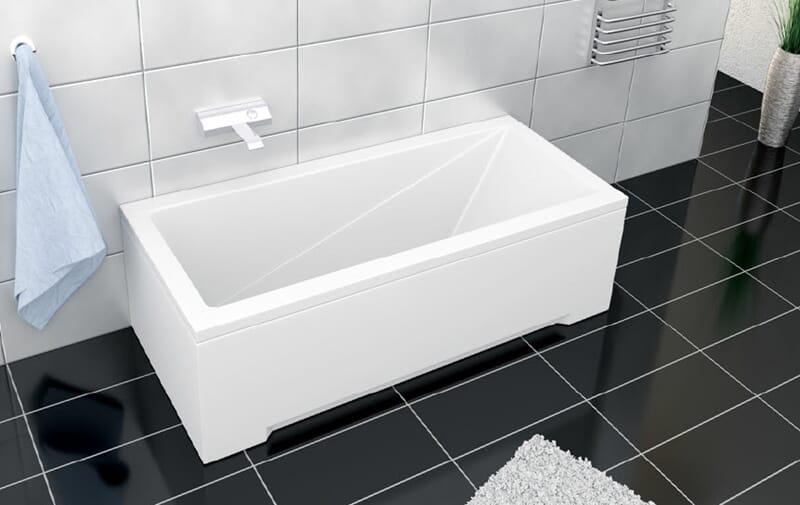 Bare ut Ecobad 130cm badekar med panel - BAD OG HYTTE SENTERET PM-04