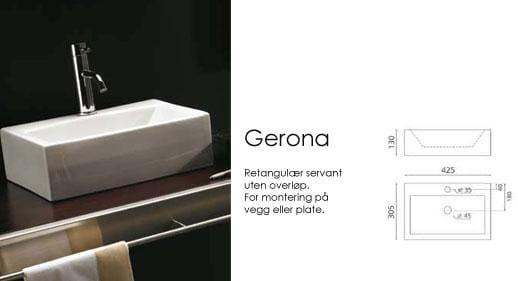Gerona servant 425*305*130   bad og hytte senteret